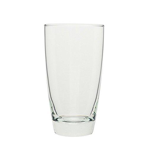 10 Strawberry Street Ocean Glass - Seoul 15 Oz Hiball Glass Set of 6 Clear Glass