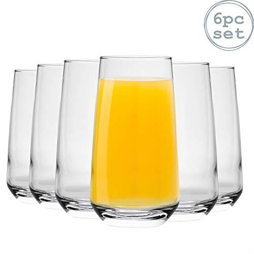 Argon Tableware Tallo WaterJuice Hiball Glasses - Gift Box of 6 Glasses - 480ml