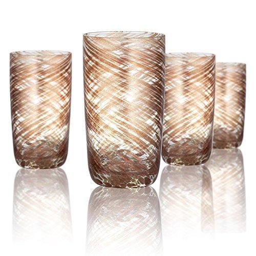 Artland 14713B Misty Hiball Glass Set Of 4 15 oz Clear