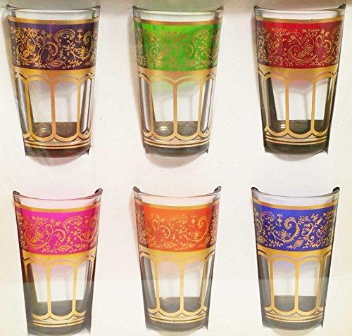 6 Moroccan Turkish Middle East Tea Glass Serving Tea Pot tumbler Candle cup shot