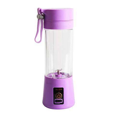 BBT-shop USB Electric Safety Juicer Cup Fruit Juice Mixer Travel BlendMini Portable Rechargeable Juicing Mixing Crush Ice Blender Mixer Purple