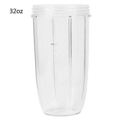 P-RULER Juicer Cup Mug Clear Replacement for NutriBullet Nutri Bullet Juicer 182432OZ