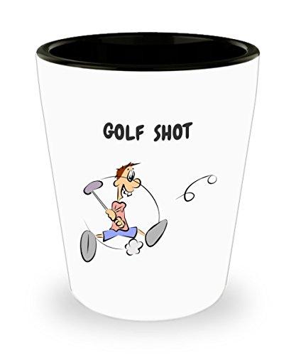 Funny Golf Gift - Golf Shot Novelty Ceramic 15 oz Custom Printed Shot Glass Collectible Funny Gift
