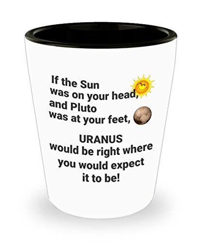 Funny Shot Glass - Where Is Uranus Your Anus Ceramic 15 oz Custom Printed Shot Glass Collectible Novelty Funny Gag Gift