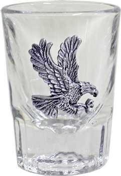 Libbey 2oz Flying Eagle Fluted Bar Shot Glass