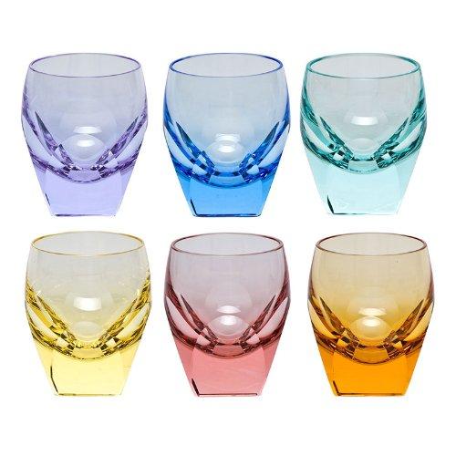 Moser Crystal Bar Shot Glasses Set of 6 Multicolor