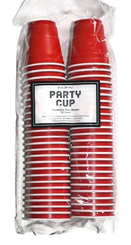 Disposable Red Shot Glasses 2 Oz 50 Count
