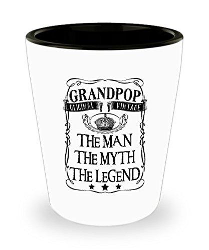 Grandpop The Man The Myth Legend Original Vintage Shot Glass Sayings Gran Shot Glasses Funny Gifts