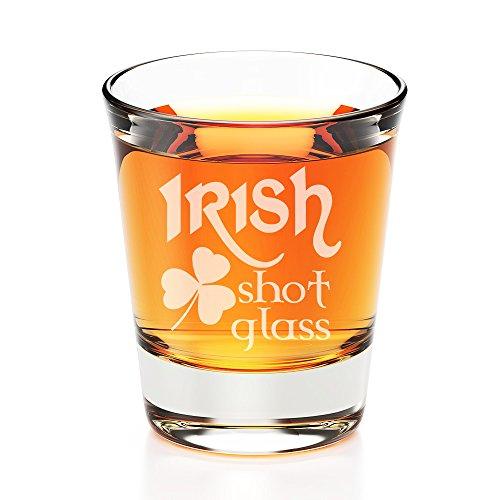 Irish Shot Glass Engraved Fluted Shot Glass
