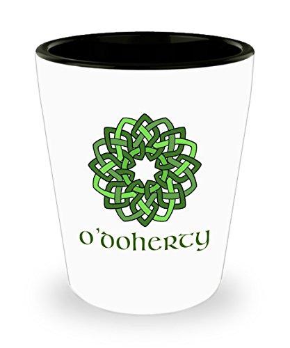 ODoherty ~ Irish Surname ~ Celtic Knot Wreath Shot Glass