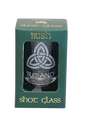 Trinity Knot Irish Shot Glass by Shamrock Gift