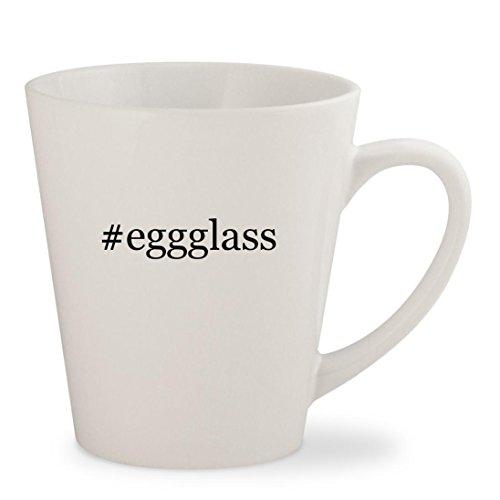 eggglass - White Hashtag 12oz Ceramic Latte Mug Cup