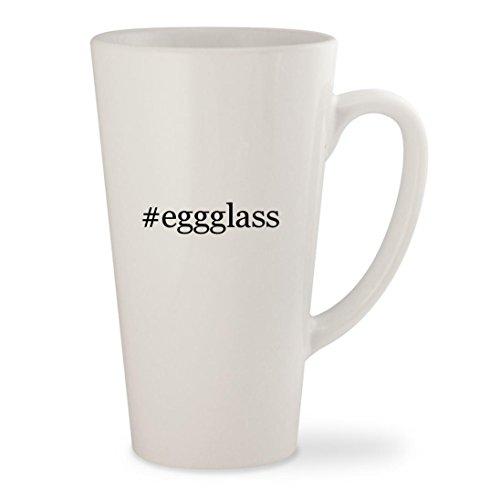 eggglass - White Hashtag 17oz Ceramic Latte Mug Cup