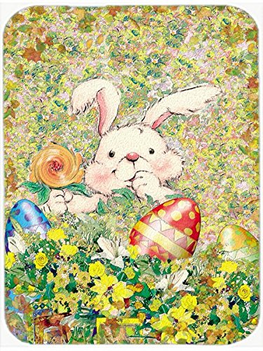 Carolines Treasures APH2954LCB Easter Bunny and Eggs Glass Cutting Board Large Multicolor