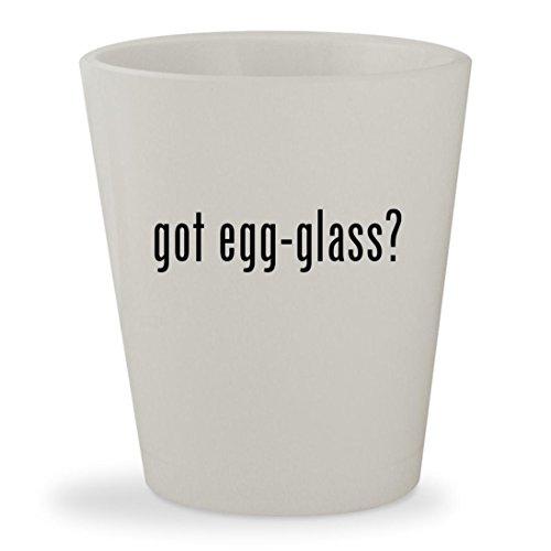 got egg-glass - White Ceramic 15oz Shot Glass