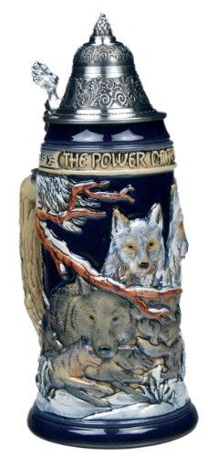 Beer Steins by King - Power of the Pack Wolf German Beer Stein Beer Mug 075l Limited Edition