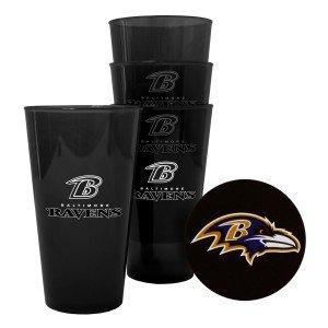 Baltimore Ravens Plastic Pint Glass Set