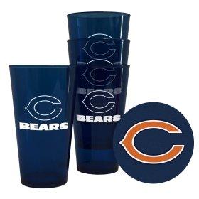 Chicago Bears Plastic Pint Glass Set