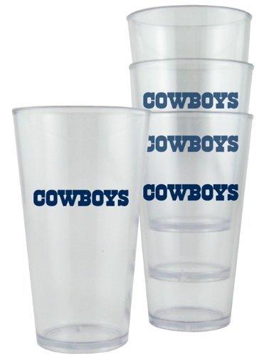 Dallas Cowboys Plastic Pint Glass Set