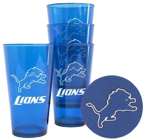 Detroit Lions Plastic Pint Glass Set