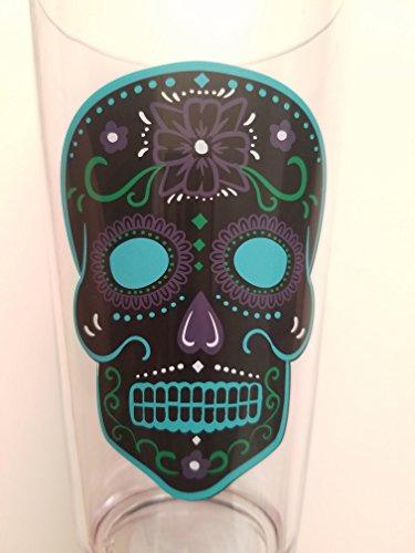 Sugar Skull Day of the Dead Plastic Pint Glass
