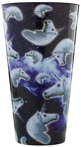Unicorn Heads In Space Plastic Pint Glass