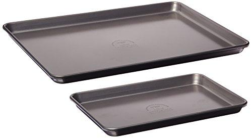 KitchenAid KBNSS95SH Professional-Grade Nonstick Quarter Sheet and Half Sheet Pans Set of 2 Bakeware