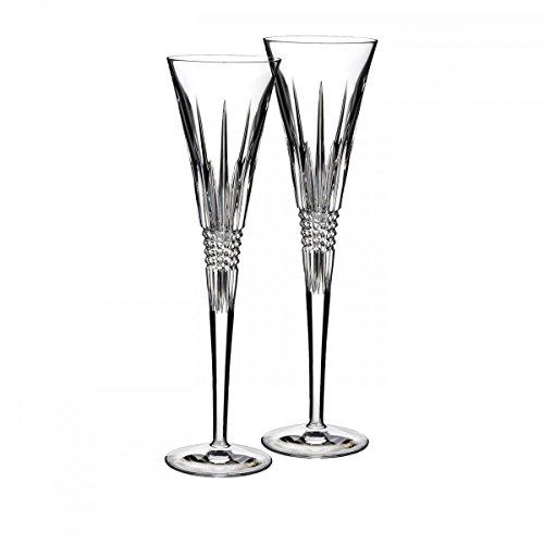 Lismore Diamond Toasting Flute Glass Set of 2