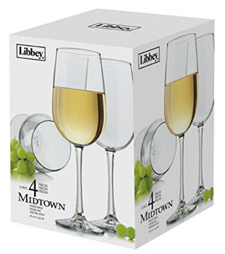 Libbey Midtown 4-piece White Wine Glass Set