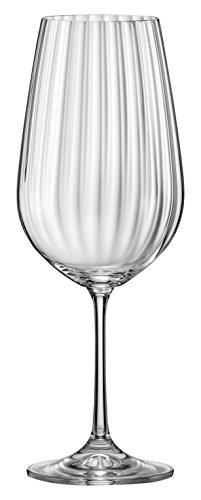 Red Vanilla Viola Optic White Wine Glass Set of 6 1175 oz Clear