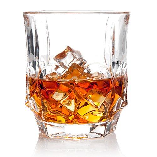 Nile Whiskey Glasses Gift Pack Set Of 2 - Scotch Lead Free Liquor Tumblers Dishwasher Safe Classic Old Fashioned Barware Rum Vodka Glassware Elegant Ultra Clarity Cocktail Bourbon Whisky Glass