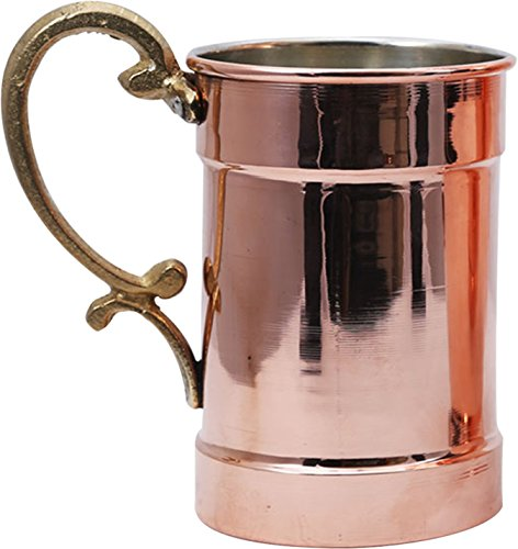 Handcraftideas Moscow Mule Copper Barrel Beer Cocktail Mug Cup- 100 HandCrafted - Hand Made Hand Painted Pure Solid Copper Heavy Mug - 22 fl Oz 650ml-CM-114