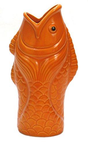 Orange Goldfish Koi Ceramic Fish Cocktail Mug