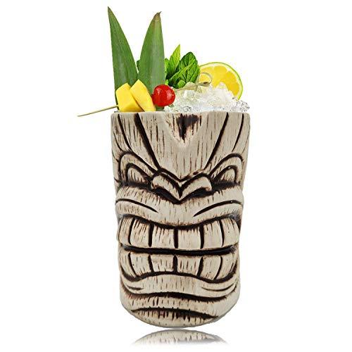 Tiki Mugs - Ceramic Toscano Lono Tiki Mug 15oz  450ml Cocktail Mug for Mai Tai Punch Pina Colada and Tropical bar Drinks 15oz  450ml Toscano Kanalo