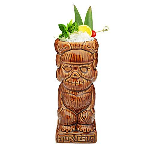 Tiki Mugs - Dark Suavecita Tiki Mug 13oz  380ml Cocktail Mug for Mai Tai Punch Pina Colada and Tropical bar Drinks - TIKI0016-D Dark Suavecita 13oz380ml
