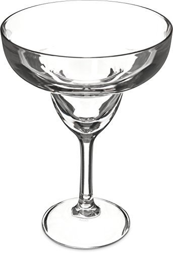 Carlisle 565207 Shatter-Resistant Plastic Margarita Glass 16 oz Clear Pack of 24