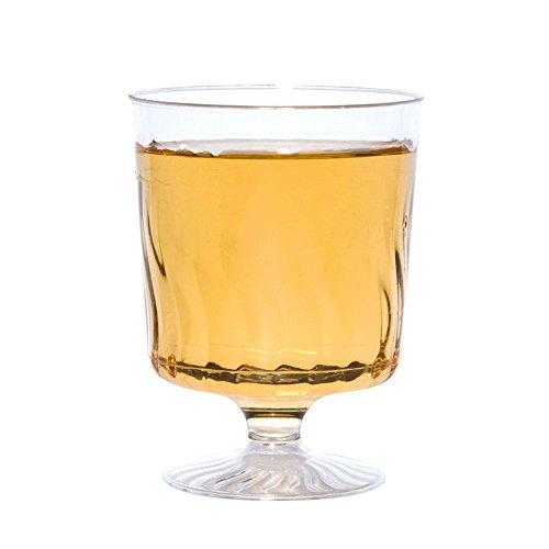 Fineline Flairware 2208 CASE of 240 Clear Plastic 8 oz Wine Glass wBonus Turquoise Prism Picks