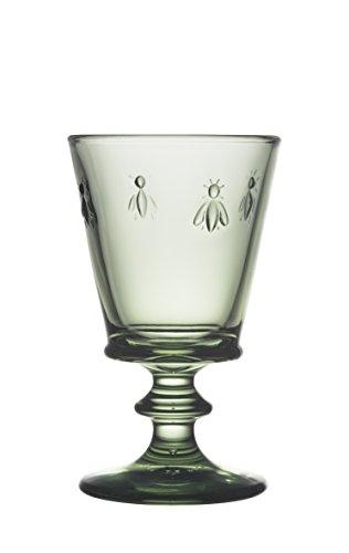 La Rochere Napoleon Bee Verdigris 8 oz Wine Glass Set of 6 Green