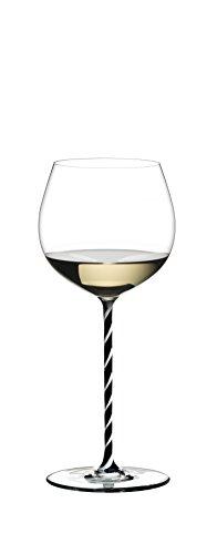 Riedel Fatto A Mano Oaked Chardonnay Wine Glass BlackWhite