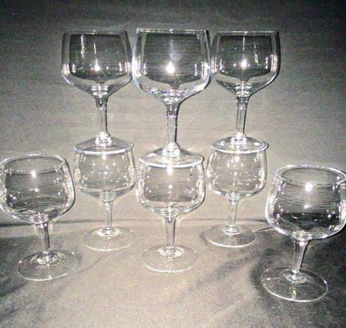 Stemmed Crystal Brandy Snifter Glass Set of 8