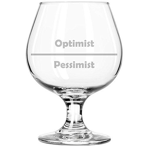 Whiskey Bourbon Belgian Tulip Beer Goblet Brandy Snifter Glass Funny Optimist Pessimist