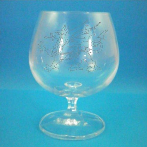 Bohemia Crystal Brandy Glass With Welsh Dragon Design