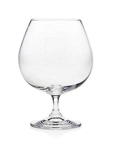Godinger Silver Art European Crystal Brandy Glasses - Set of 4