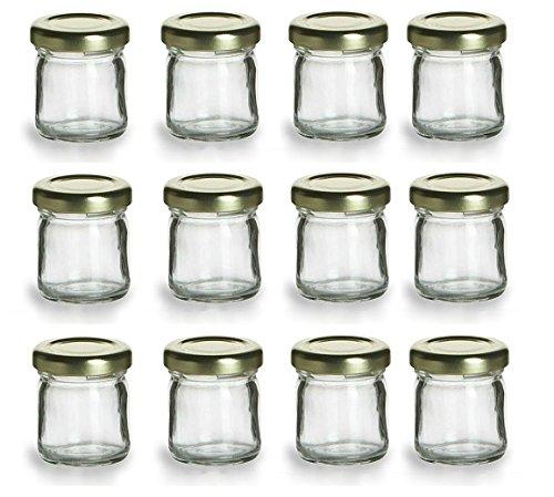 Nakpunar 12 pcs  15 oz Mini Glass Jars for Jam Honey Wedding Favors Shower Favors Baby Foods DIY Magnetic Spice Jars