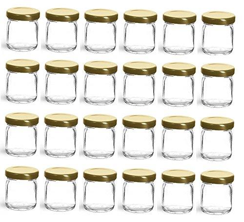 Nakpunar 24 pcs 15 oz Mini Glass Jars for Jam Honey Wedding Favors Shower Favors