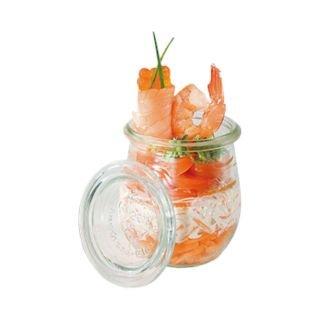 Paderno World Cuisine 74-Ounce Glass Jar Mini Clear Set of 12