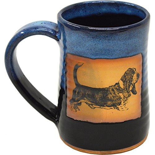 Basset Hound 17 Oz Small Tankard in Garcia Blue glaze