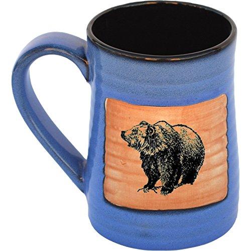 Bear 17 Oz Small Tankard in Real Blue glaze