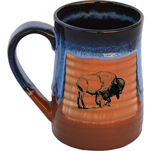 Buffalo 17 Oz Small Tankard in Azulscape glaze