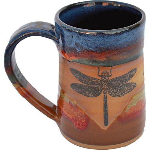 Dragonfly 17 Oz Small Tankard in Azulscape glaze